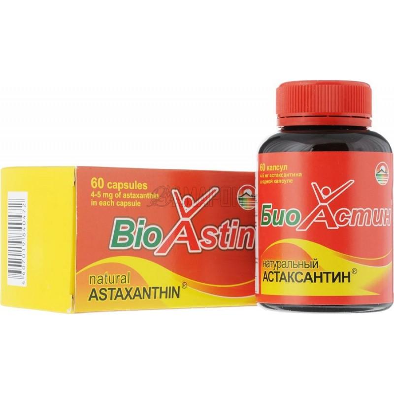 БиоАстин Астаксантин натуральный 4 мг/750 мг, капс., №60