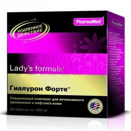 Леди-с формула гиалурон форте таб., 1480 мг, №30