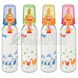 НУК бутылочка пластиковая антиколиковая 240 мл с соской силиконовой (р.1)