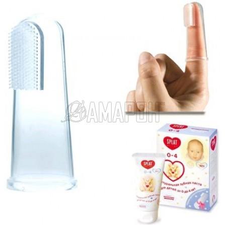 Сплат Детская зубная паста от 0 до 3 лет 40 мл + щеточка