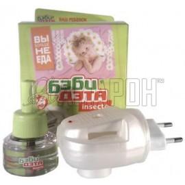 Дэта Бэби Инсекто комплект (жидкость от комаров 45 ночей + фумигатор)