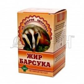 Барсучий жир капс., 0,3 г, №100