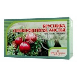Брусника обыкновенная листья фильтр-пакеты 1,5 г, №20