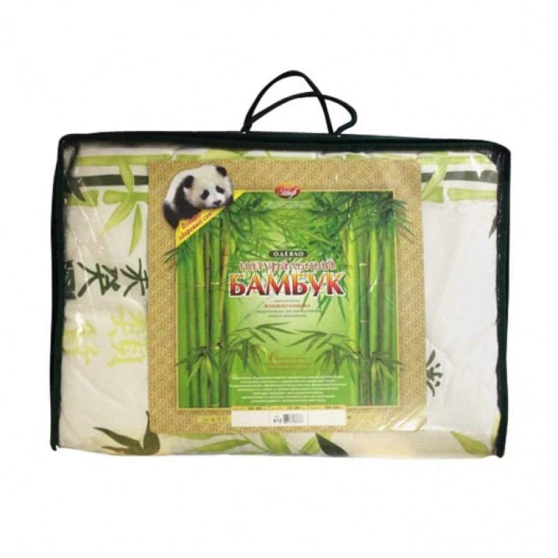 Одеяло с наполнителем из бамбукового волокна зимнее евро (200х215 см)