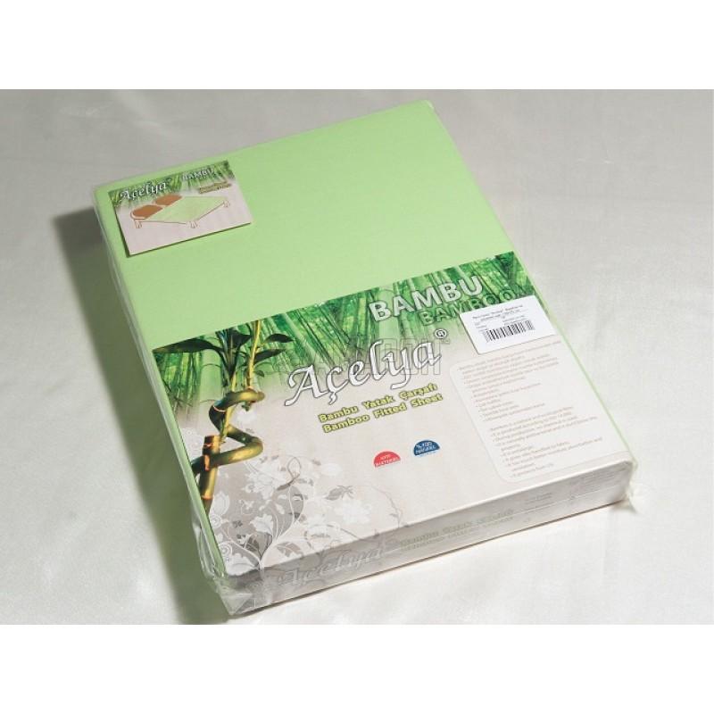 Простыня на резинке с наволочкой бамбуковые Acelya (на матрас 100х200 см)