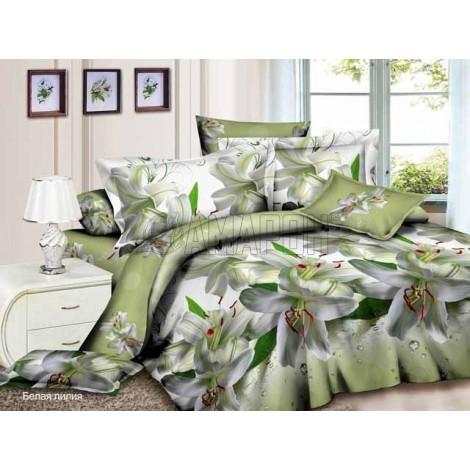 Выберите расцветку КПБ 3-D (микросатин/бамбук):: белая лилия
