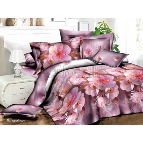 Выберите расцветку КПБ 3-D (микросатин/бамбук):: лиловый сон