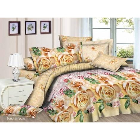 Выберите расцветку КПБ 3-D (микросатин/бамбук):: золотая роза
