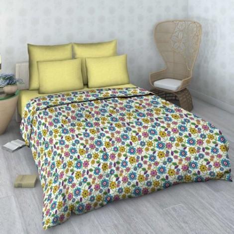 Постельное белье льняное 2-спальное, лен/хлопок (4 расцветки)