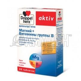 Доппельгерц актив магний+вит. группы В, 1270 мг, таб., №30