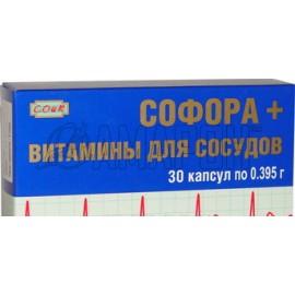 Софора + витамины для сосудов 0,395 г, капс., №30