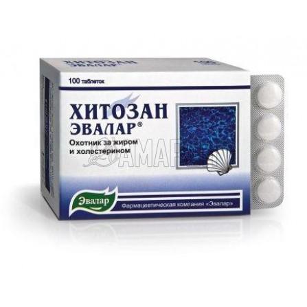 Хитозан-Эвалар 0,5 г, таб., №100