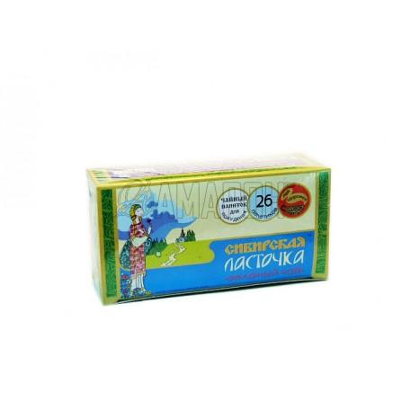 Сибирская ласточка зеленый чай 1,5 г, фильтр-пакеты, №26 | доставка +7 дней
