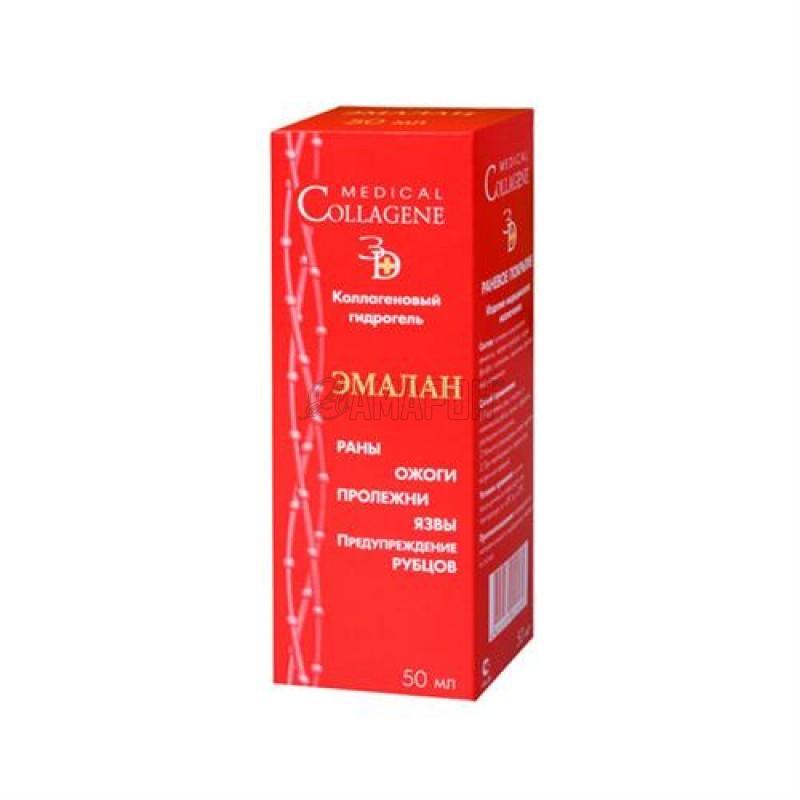 Эмалан коллагеновый гидрогель (ожоги, пролежни, трофические язвы), 50 мл | доставка +10 дней