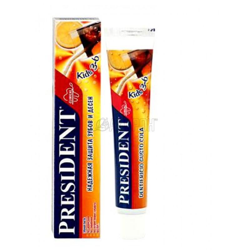 Президент Кидс зубная паста (кола) от 3 до 6 лет 50 мл