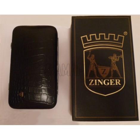 Зингер мужской маникюрный набор Zinger MS-JB-102-S с бритвенным станком (7 инстр.)