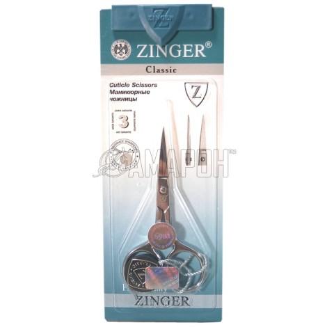 Зингер ножницы маникюрные для ногтей с ручной заточкой Zinger B105-S-SH IS