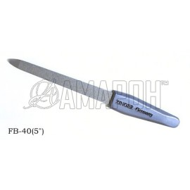 Зингер пилка для ногтей металлическая с алмазным напылением Zinger FB-40 (5) blue emb.