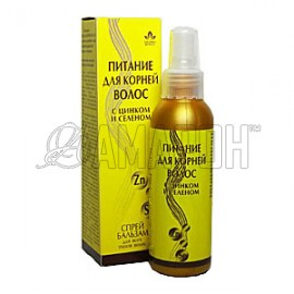Питание для корней волос спрей-бальзам (цинк, селен), 150 мл
