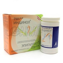 Индинол 300 мг, капс., №120 + Эпигаллат 500 мг, капс., №120