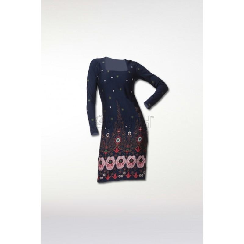 Платье футляр Северные узоры Sheath dress Z133
